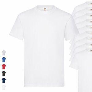 10er-Pack-Fruit-of-the-Loom-Heavy-T-Herren-Basic-T-Shirt-schwere-Qualitaet-NEU