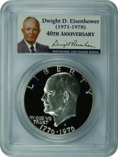 IKE 1976-S PCGS PR69DCAM Eisenhower SILVER Dollar Presidenital Label