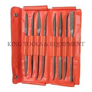 New King 8pc Assorted Second Cut Riffler Files, American Double Cut, Double End Belle Qualité