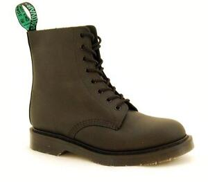 Détails sur Solovair Nps Chaussures Made IN England 8 Œil Noir Greasy Bottes S068 s8551bkgy