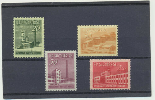 Albania 697 -700 Mint NH complete 1963 Industrial Development Scott Val $26.10