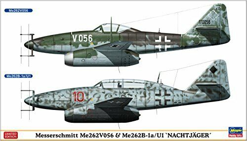 Hasegawa 1 72 Messerschmitt Me262V056 & Me262B-1a U1 Night Fighter Model Kit NEW