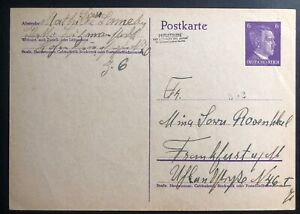 Details about 1942 Litzmanstadt Poland to Frankfurt Germany Ghetto Postcard  Cover