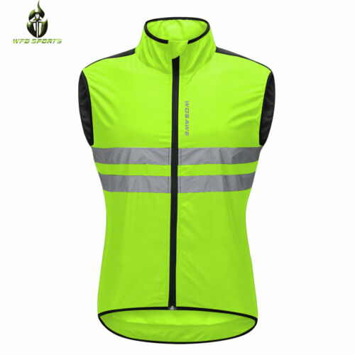 Hi Viz Cycling Jackets Reflective High Visibility Bike Bicycle Windproof Jerseys