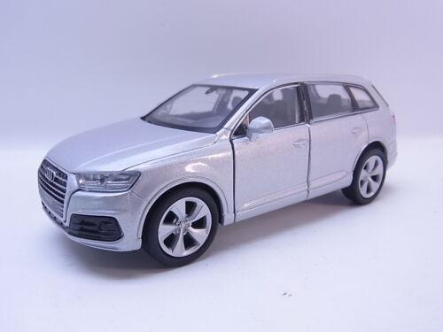 Lot 40757Welly audi q7 plata coche modelo 1:40 nuevo