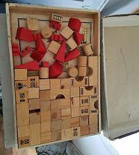 CHADWICK CASTLE WOODEN BLOCK BUILDING TOY SET 102 pieces vintage new