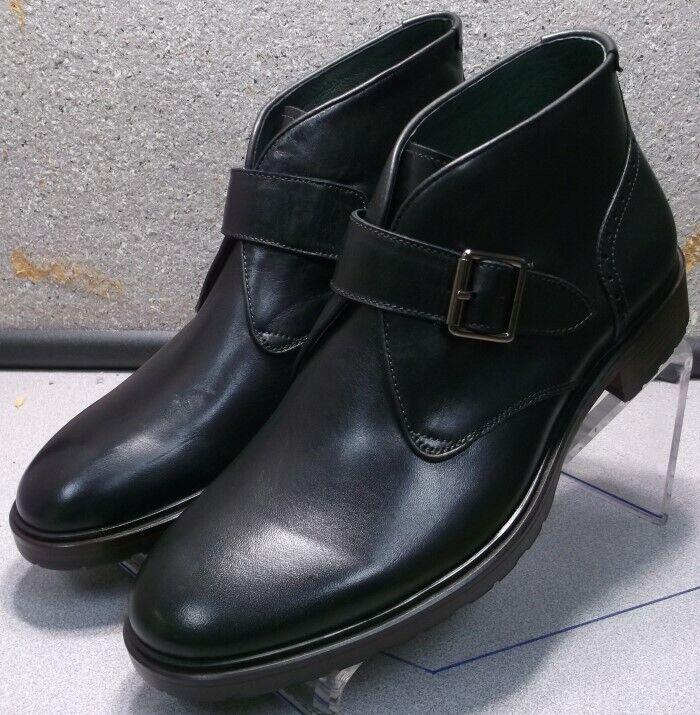 271541 ESBT50 Men's shoes Size 12 M Black Leather Boots Johnston & Murphy