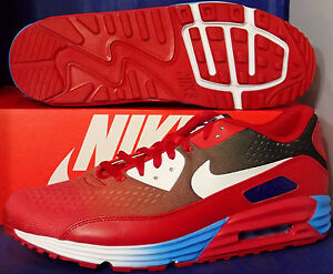 online retailer 6fe10 a3020 Image is loading Nike-Air-Max-Lunar90-EM-iD-Red-White-