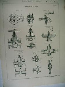 Planche Science école Polytechnique Robinets Divers 8vgbesxd-10042613-109791457