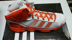 Adidas INFILTRATE NBA Basketball Shoes Trainers Sz 17 US Orange/White