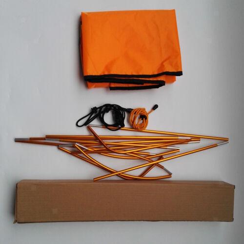 Orange Universal Durable Single Kayak Canoe Sun Shade Awning Canopy