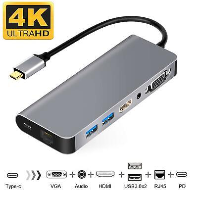 GTJXEY 7 in 1 Hub USB 3.0 Interface 4K HDIM Video Output Compatible Charging and Data Transmission SD-TF Card Reader Type-C Device for MacBook Pro