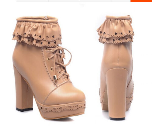Stiefel Absatz 11 Schuhe Komfortabel 9150 Boots Ankle Simil cm Beige Frau Leder aqxrFawX