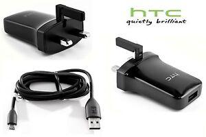 Veritable-HTC-TC-P900-Chargeur-Secteur-Micro-USB-donnees-Cable-Mur-AC-Apdater