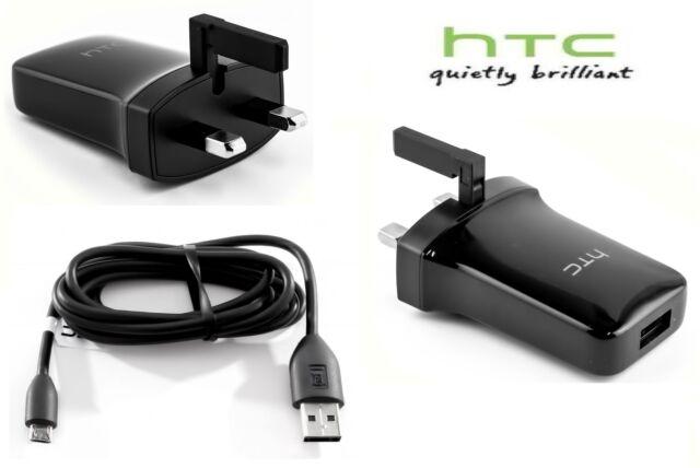 Original HTC tc-p900 CARGADOR + Micro USB Datos Carga Cable Pared AC Apdater