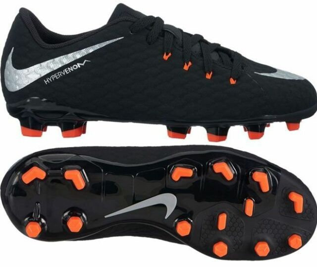 17165d80372 Nike Hypervenom Phelon III FG 2017 Nike Skin Soccer Shoes Black Kids Youth