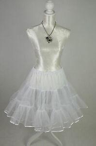 50er 60er Petticoat Unterrock Tüllrock Rockabilly Retro Vintage Neu Weiß Vintage-mode Für Damen