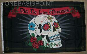 3-039-x5-039-Day-of-the-Dead-Spanish-Flag-Skull-Banner-Dia-De-Los-Muertos-Holy-3X5
