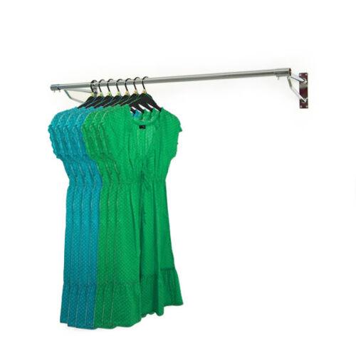 Heavy Duty 4ft Lang Kleiderstange Wandmontage Schraubbefestigung Kleidungsstück