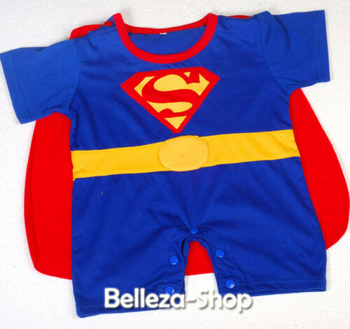 Superman Superhero Baby Romper Costume Outfit Halloween Party Size 3m-24m FC013