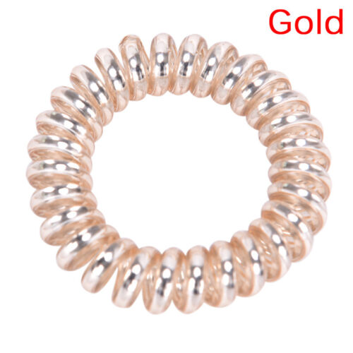 1PC//5PCS Rubber Telephone Wire Hair Ties Spiral Slinky Hair Head Elastic Band TB