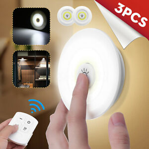 3Pz-COB-LED-Senza-fili-Luce-Notturna-a-LED-Lampada-da-Parete-Con-Telecomando