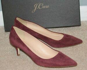 70b52f5fcd $198 J Crew Dulci Suede Kitten Heels Shoes Size 8.5 Burgundy A9758 ...