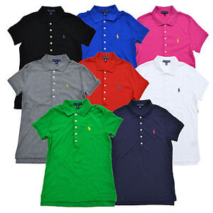 M Ralph Lauren L Nwt New Shirt Fit Womens Classic Interlock Logo Polo Pony fqaZSw