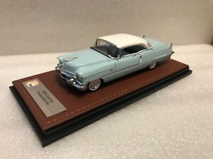 1956-Cadillac-Coupe-deVille-1-43-GLM-resin-n-Neo-Brooklin-Sonic-blue-White-Ltd