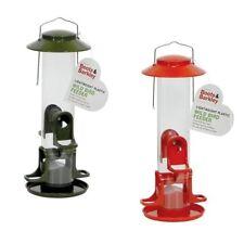 """1 Boots & Barkley Lightweight Plastic Wild Bird Feeder 13"""" High (Red or Green)"""