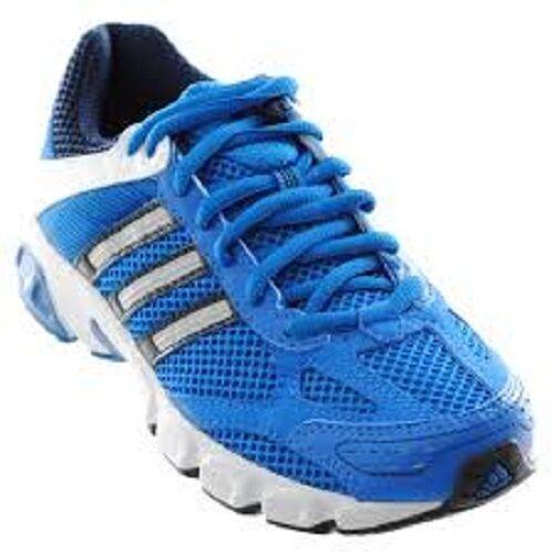Adidas 'Duramo 4' Hombre Azul Malla con Cordones Zapatillas para Correr.