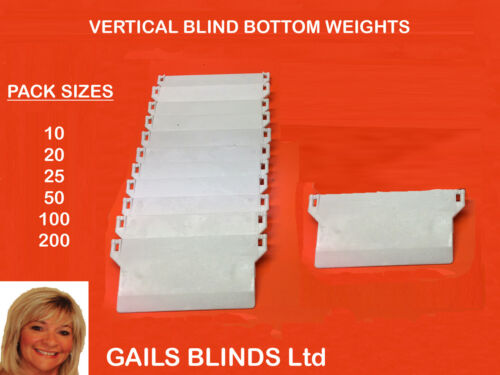 VERTICAL BLINDS BOTTOM WEIGHTS FOR 5/127mm  REPAIRS & SPARE PARTS