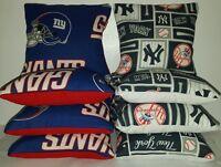 Set Of 8 Yankees/new York Giants Cornhole Bags Free Shipping