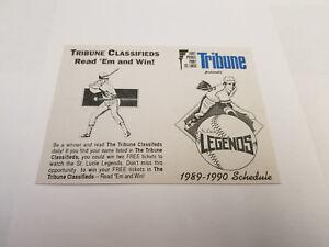 St-Lucie-Legends-1989-90-Senior-Minor-Baseball-Pocket-Schedule-Tribune