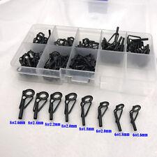 Black Titanium Oxid 80 Pcs 8 Sizes Fishing Rod Guides Rod Tips Rod Building