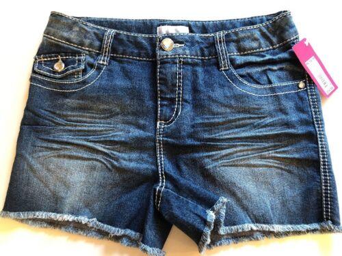 SUMMER SHORTS Denim Blue Size XL 14-16 Girls DAISY DUKE Style SPARKLES NWT