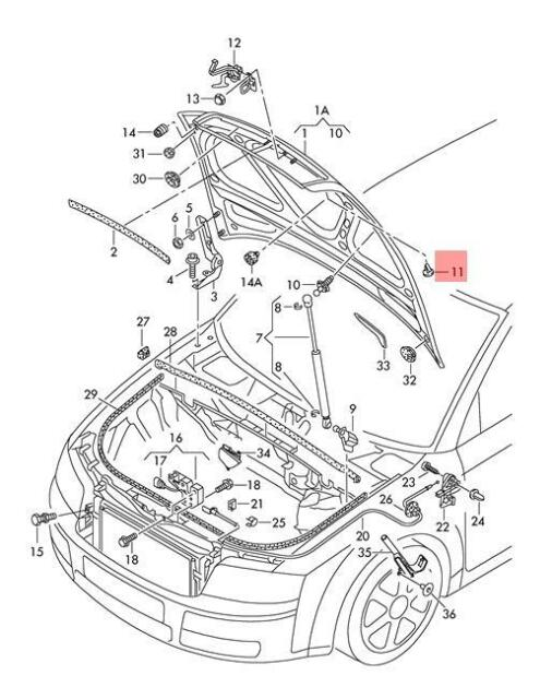 Genuine Stop Buffer X10 AUDI A4 Avant S4 Quattro A4l 4G5827489