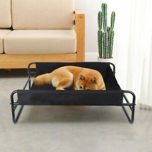 Breathable-Iron-Art-Dog-Bed-Detachable-Camp-Bed-Kennel-Pet-Cot-Elevated-Pet-Bed