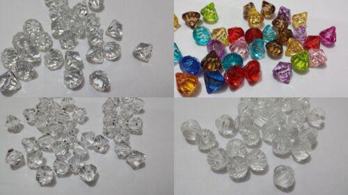 25 DIAMOND GEMS PUMPKIN DROP BEADS JEWELLERY MAKING BEAD FINDINGS