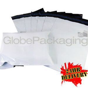 """200 x Large WHITE 18x24"""" Mailing Postal Postage Bags 18""""x24"""" (450x600mm) 24HRS"""