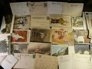 LOT-OF-50-VINTAGE-POSTCARDS-SCENIC-USA-amp-FOREIGN-1900s-and-up