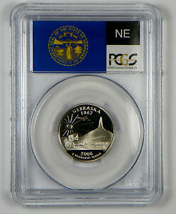 2006-S North Dakota Clad  Proof State Quarter PCGS PR69DCAM  State Flag