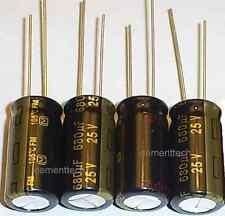 4x Panasonic Fm 680uf 25v Low Esr Radial Capacitor Capacitors 105c 10mm 10x20