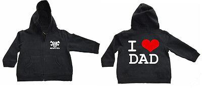 I LOVE DAD  Zipped Hoodie KAPU-Zip Baby Black