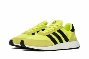 Adidas Iniki Runner Boost Solar Neon Yellow Black Volt BB2094
