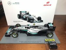 Collectable Hot Wheels Series in honor of Nico Rosberg The whole Set 3//3