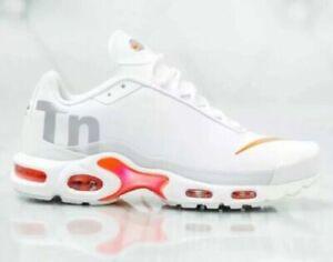 Details about Nike Air Max Plus TN SE Big Logo AQ1088 100 White Silver Orange Men's Shoe SZ 10