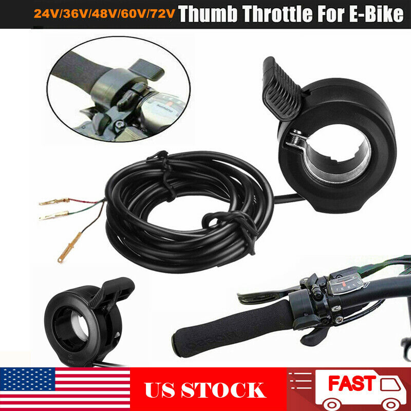 Universal Thumb Throttle Speed Control 3 Wire for E-Bike Electric Bike Scooter