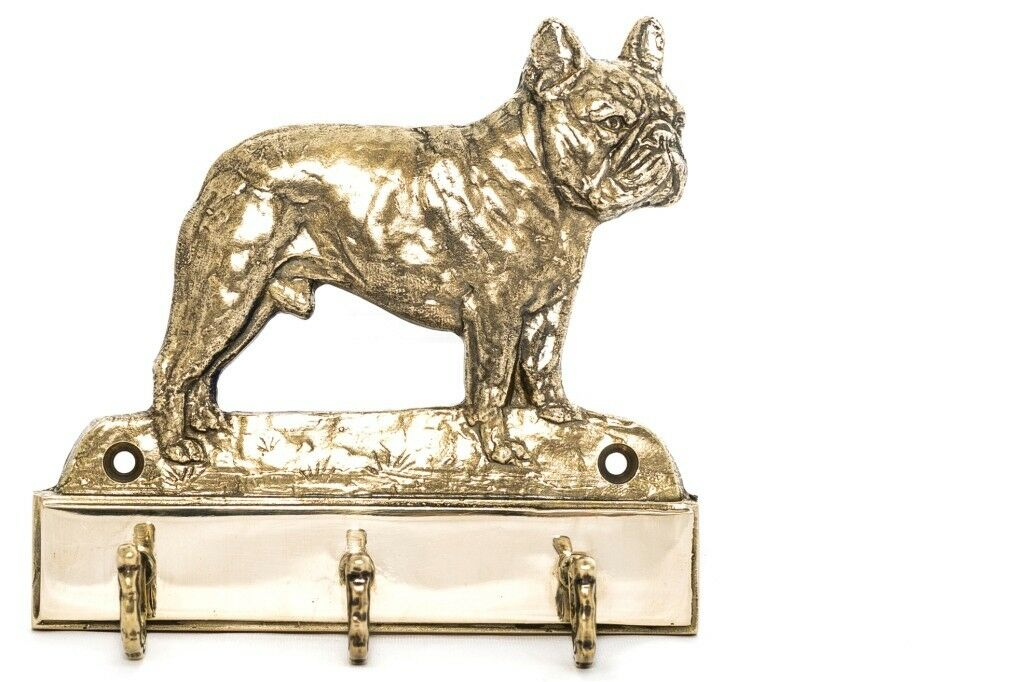 French Bulldog    brass hanger with image of a dog, high quality, Art Dog 7cf5c4