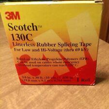 Scotch Linerless Rubber Splicing Tape 130c 34 In X 30 Ft Black